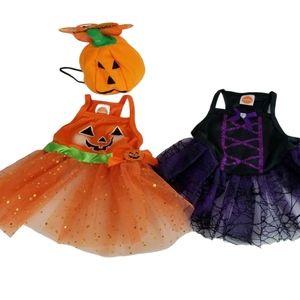 Simply Dog Small Dresses 1 Pumpkin & 1 Spiderweb